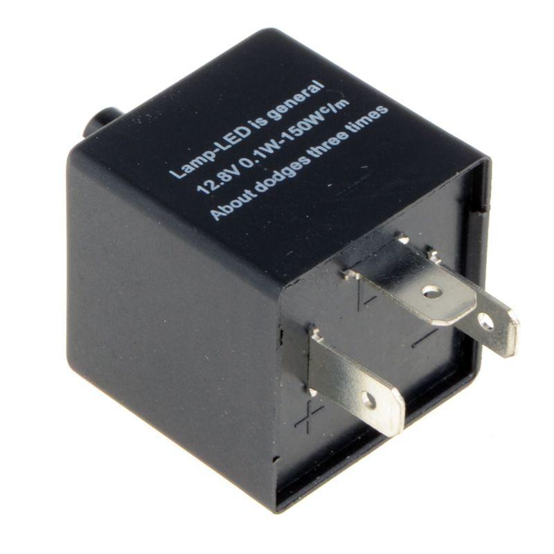 12V 3-Pins Adjustable Frequency LED Flasher Relay Motorcycle Turn Signal Indicator Motorbike Fix Blinker Indicator P31