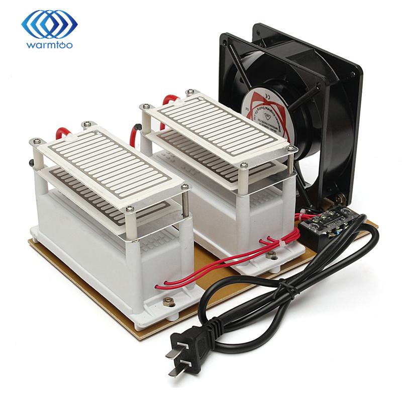 20g Tragbare 220 v Ozon Generator Metall + Kunststoff Ozon Desinfektion Maschine Luft Filter Purifier Fan Für Home Auto sterilisieren