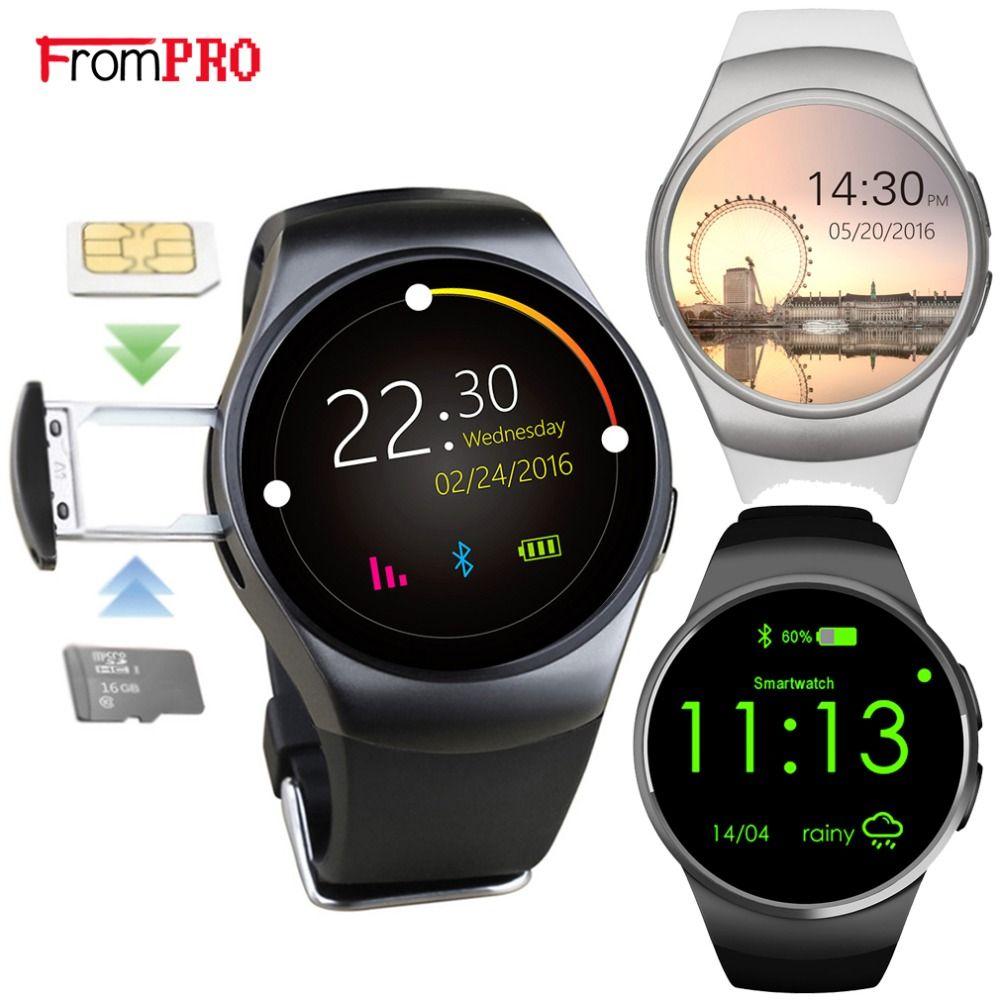 KW18 Smart Uhr Voll Abgerundete Android IOS Bluetooth Reloj Inteligente SIM Karte Herz Rate Monitor Uhr Uhr Mic Anti verloren