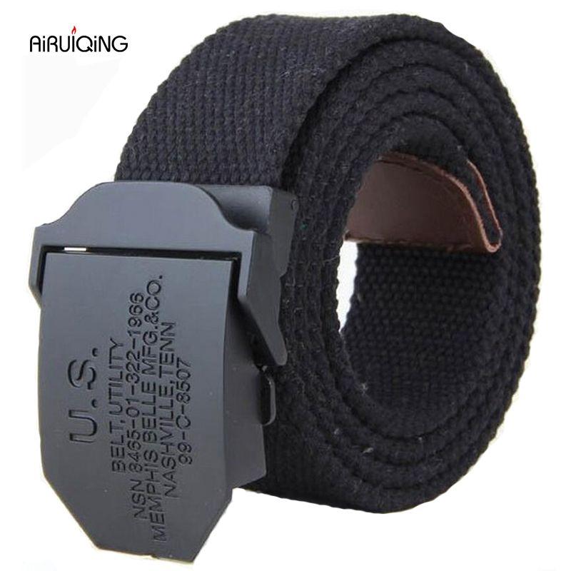 Hot 2019 mode hommes toile ceinture de haute qualité de luxe ceinture hommes marque de plein air sport militaire jeans ceintures noir armée vert 110 140