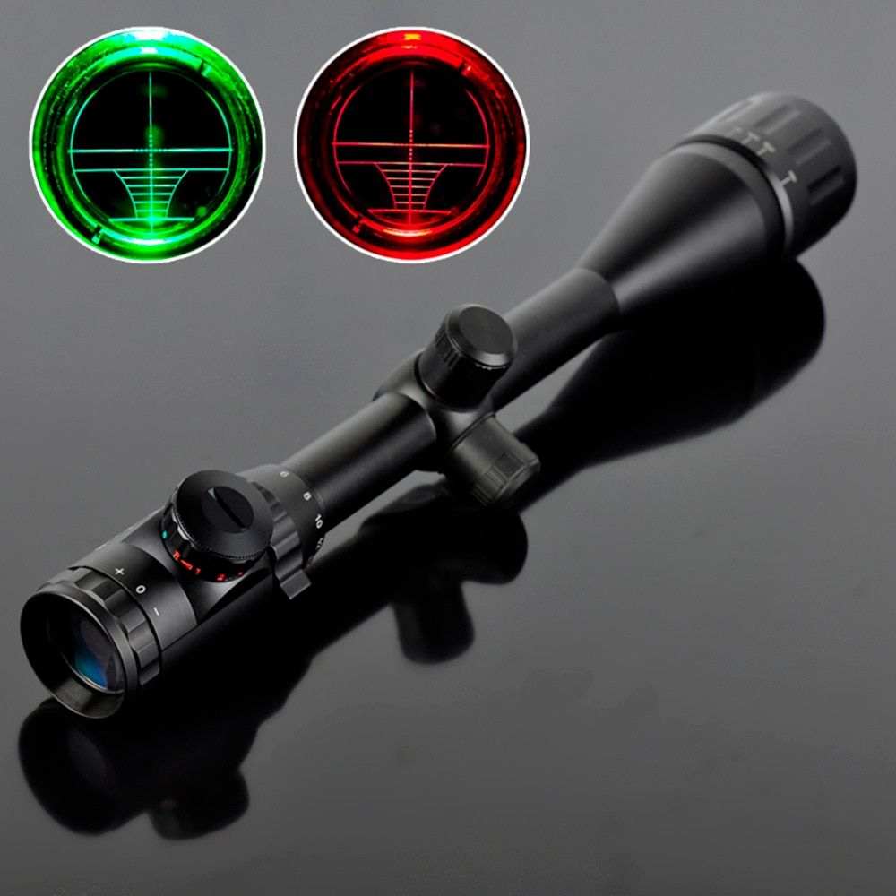 6-24X50 Riflescope Adjustable Green Red Dot Hunting Light Tactical Scope Reticle Optical Sight Scope Hot Selling