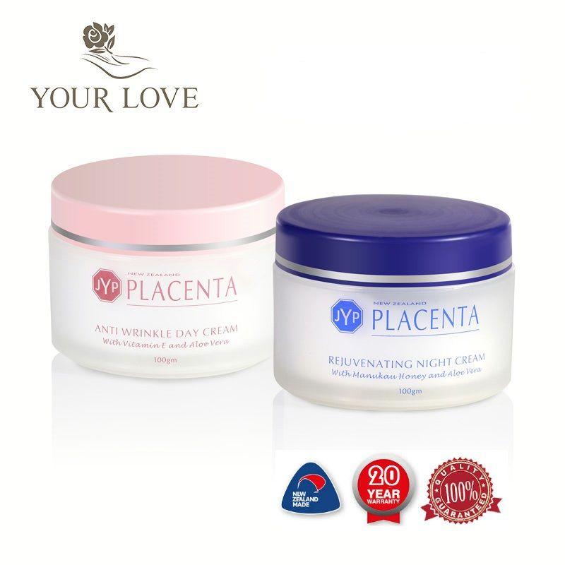 100% crème de jour Anti-rides Placenta de mouton de nouvelle-zélande + ensembles de crème de visage nuit réduisent les rides du visage crème de rajeunissement au miel de Manuka