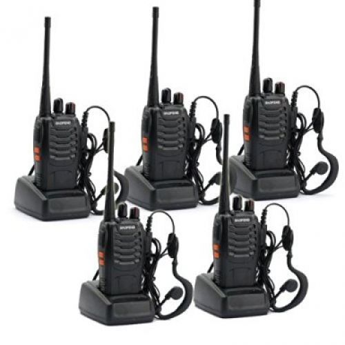 5 Pack BaoFeng BF-888S Long Range UHF 400-470 MHz 5W CTCSS DCS Portable Handheld