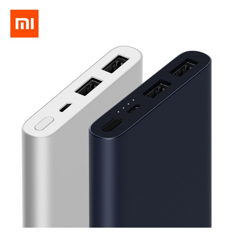 2018 Original Xiaomi Mi Power Bank 2 10000 mAh Dual USB Output 18W Quick Charge 10000mAh Powerbank External Battery Pack