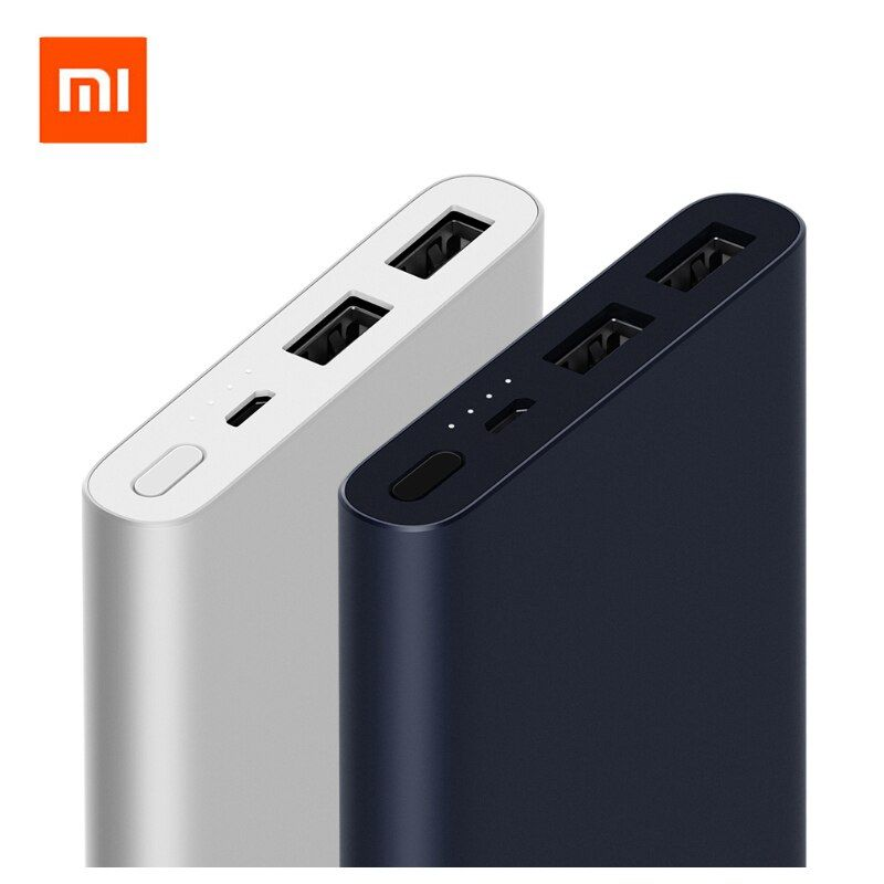 New 2018 Original Xiaomi Mi Power Bank 2 10000mAh Dual USB Output 18W Quick Charge 10000 mAh Powerbank External Battery Pack