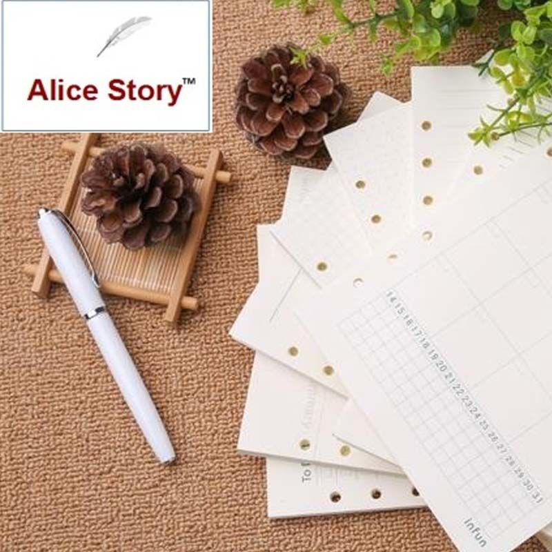 Заправка бумаги ежемесячно недельный план To Do List Кассовая книга A5 A6 арт отрывными листами кольцо связующего тетрадь заменить внутренние вс...
