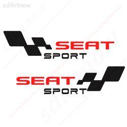 2 piezas España etiqueta del coche cuerpo Windows deportes Racing PVC pegatina Styling para Seat Leon Ibiza Altea Córdoba Toledo Accesorios