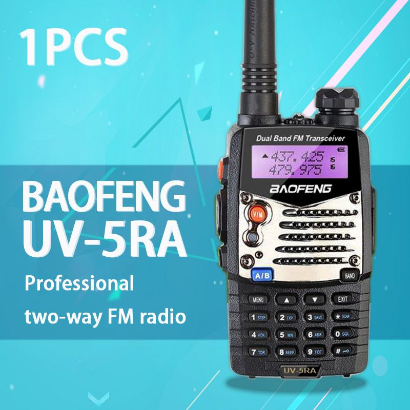 (1 pcs) Baofeng UV5RA Ham Two Way Radio Dual-Band 136-174/400-520 MHz baofeng uv-5ra talkie walkie radio Émetteur-Récepteur Noir