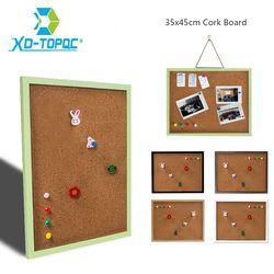 XINDI 35*45 см MDF рамка доска для объявлений пробковая доска 5 цветов Памятка булавка для фотографий пробковые доски для заметок с бесплатными ак...