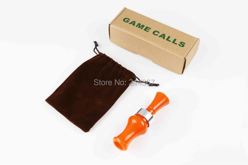 Acrylic Material Duck Calls Waterful Caller Blazed Orange Color Duck Calls Game Callers Hunting Calls Duck Whistle Free Ship