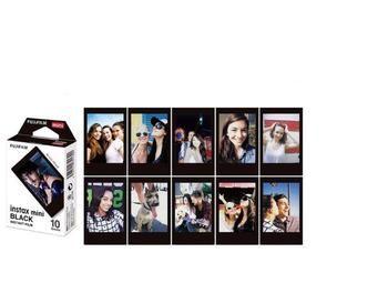 Fujifilm Instax Mini 8 Film 10 Feuilles Fuji Noir bord Photo Papier pour Polaroid mini 8 50 s 7 s 90 25 Partager SP-1 Appareil Photo Instantané