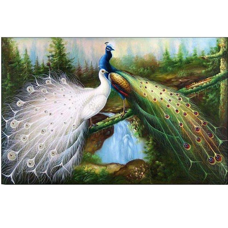 High Quality Hand Painted Palette knife Majestic Bird Living Room Wall Artwork Animal Oil Painting Canvas Wall Decor Fine Art