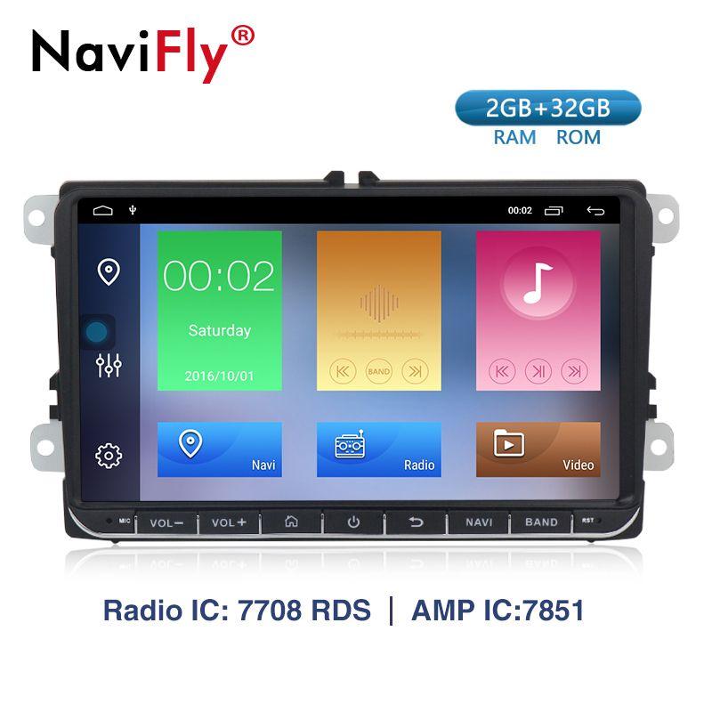 2G + 32G android9.1 auto gps dvd player für VW GOLF 5, 6 Polo Passat b5, jetta Tiguan Touran Skoda sitz Radio Stereo Kopf Einheit
