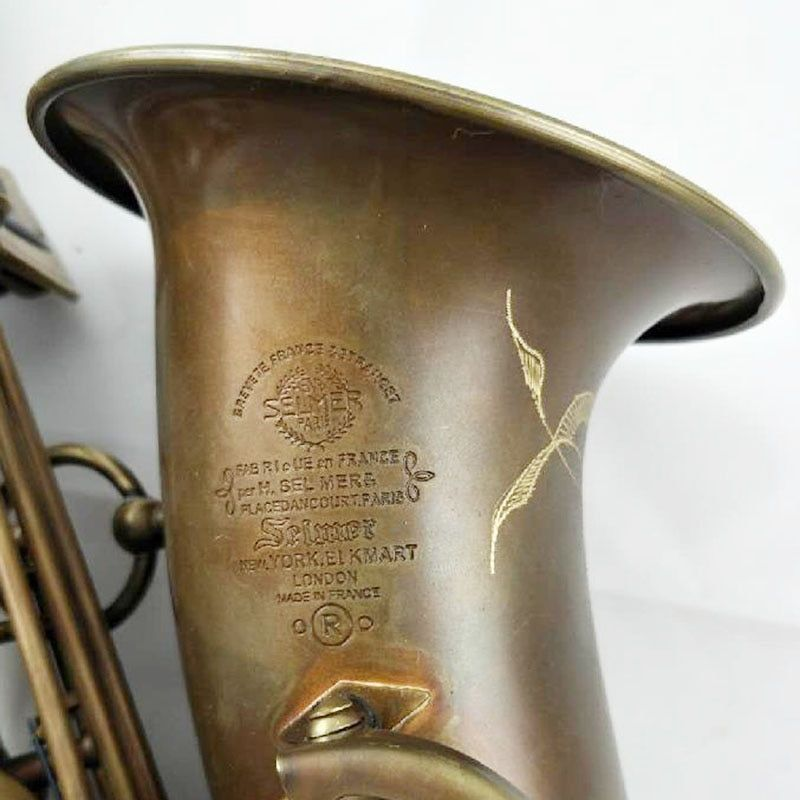 French Alto Saxophone Mark VI Bronze Intermediate Saxophone Alto Antique Brass Musical Instruments Professional Included Case