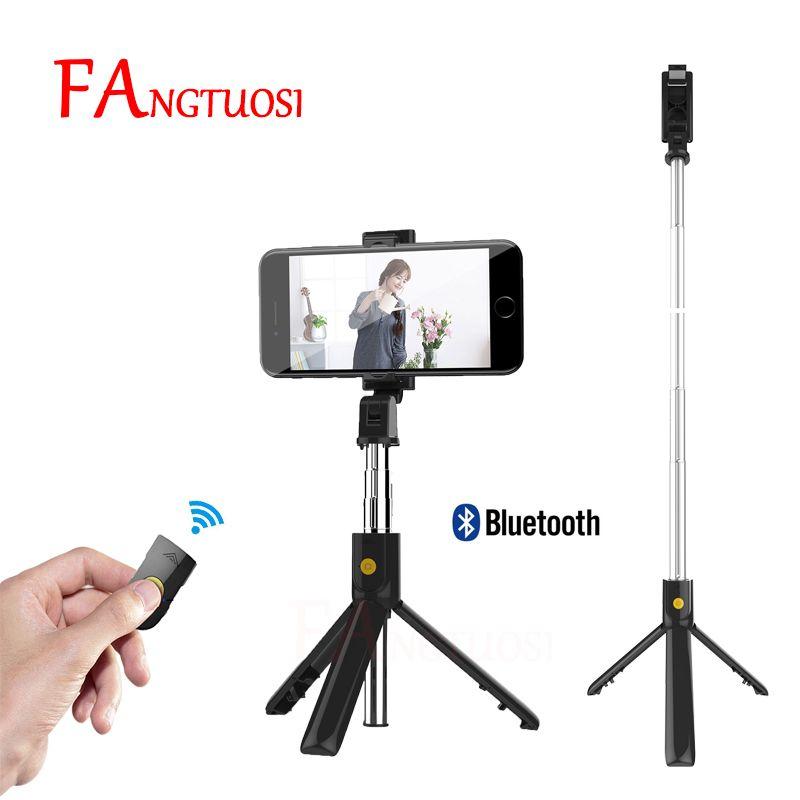 FANGTUOSI mini trépied pliable Bluetooth Selfie bâton avec obturateur sans fil extensible monopode universel pour iPhone IOS Android