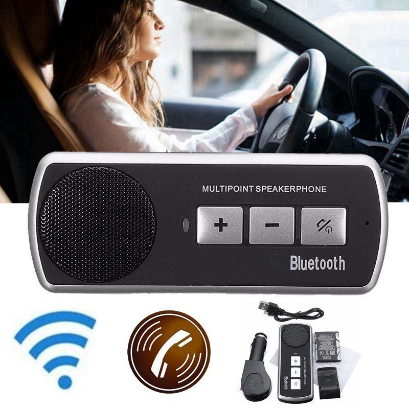 KROAK Wireless Bluetooth Car Kit Handsfree Speaker Phone Sun Visor Clip Drive Talk Speakerphones For iPhone Android