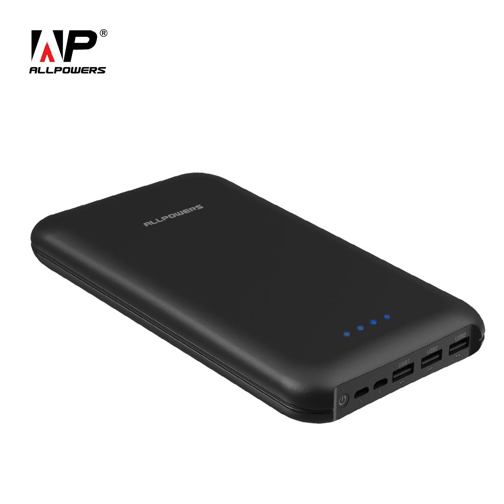 ALLPOWERS Power Bank 30000mAh Portable Phone External Battery Pack 3 Output+2 Input Quick Charging Mobile Phone Power Bank.