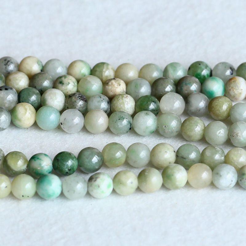 Gros Naturel Véritable Vert Jade Rondes En Vrac Pierre Perles 6mm Fit Bijoux DIY Colliers ou Bracelets 15