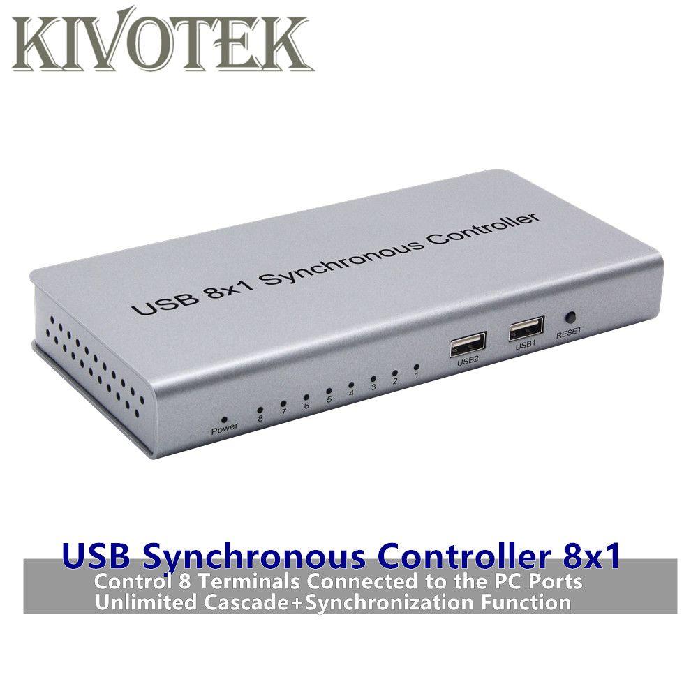 USB Synchron Controller Adapter 8x1 USB2.0 A-B Stecker Repeater Für Spiele PC Tastatur Maus KVM Extender Freies verschiffen