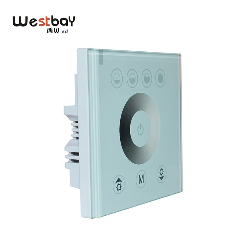 Westbay LED Dimmer Switch Panel Glass Touch Switch Adjustable Controller For DIY Lighting White Color Wall Switch Light Switch