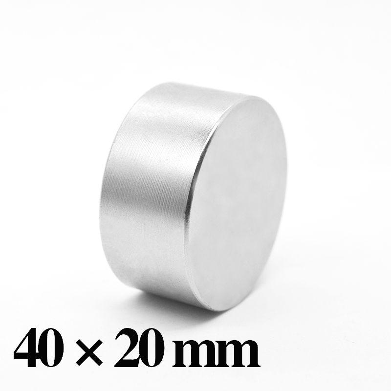 HYSAMTA 1 pièce N52 aimant néodyme 40x20 Permanent NdFeB Super fort puissant rond aimants magnétiques disque 40*20mm
