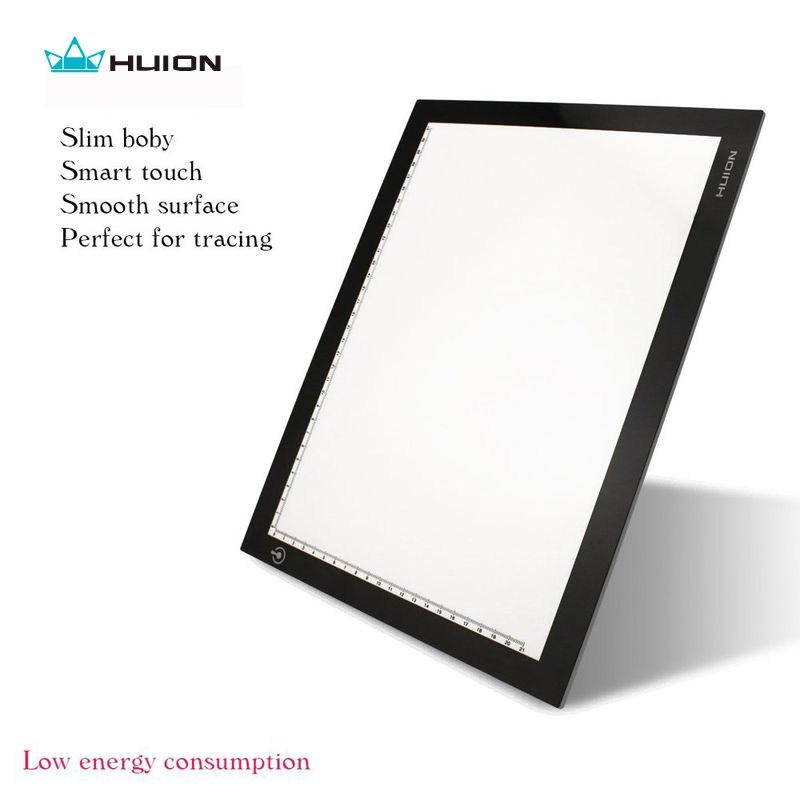 Hot Sale Huion L4S 17.7 LED Light Pad Ultra <font><b>Thin</b></font> Light Boxes LED Tracing Boards Professional Animation Drawing Tracing Panel