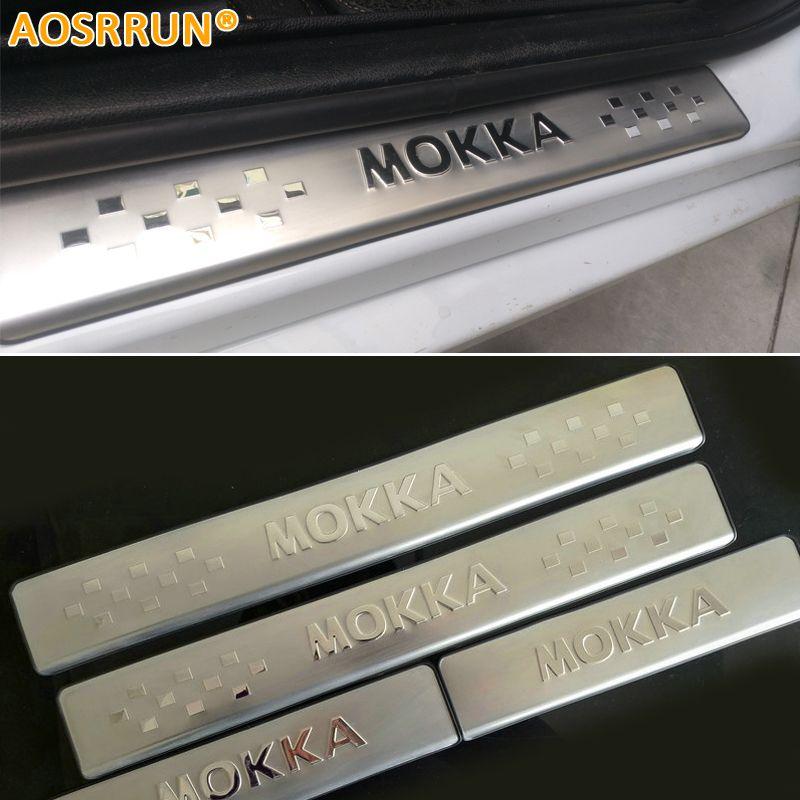 AOSRRUN Car-styling STAINLESS DOOR SILL PLATE SCUFF Scuff Plate Car ACCESSORIES FOR OPEL MOKKA VAUXHALL MOKKA 2012 2013 2014