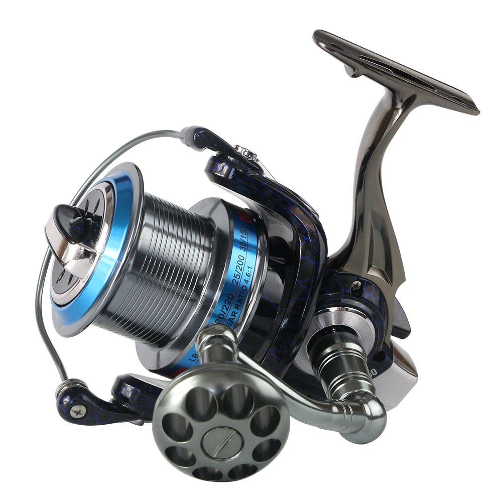 Full metal spool trolling long shot casting for carp fishing and Saltwater surf spinning wheel 18KG Drag Boat fishing reel