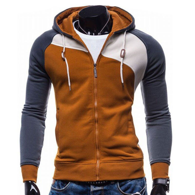 2018 Hoodies Men Sudaderas Hombre Hip Hop Mens Brand Leisure Zipper Jacket Hoodie Sweatshirt Slim Fit Men Hoody XXL