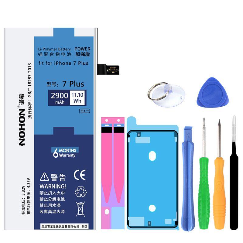 NOHON Original 2900 mAh Eingebaute Handy-akku Für iPhone 7 Plus Hohe Qualität Ersatz Batterie Mit Werkzeugmaschinen (Kit)