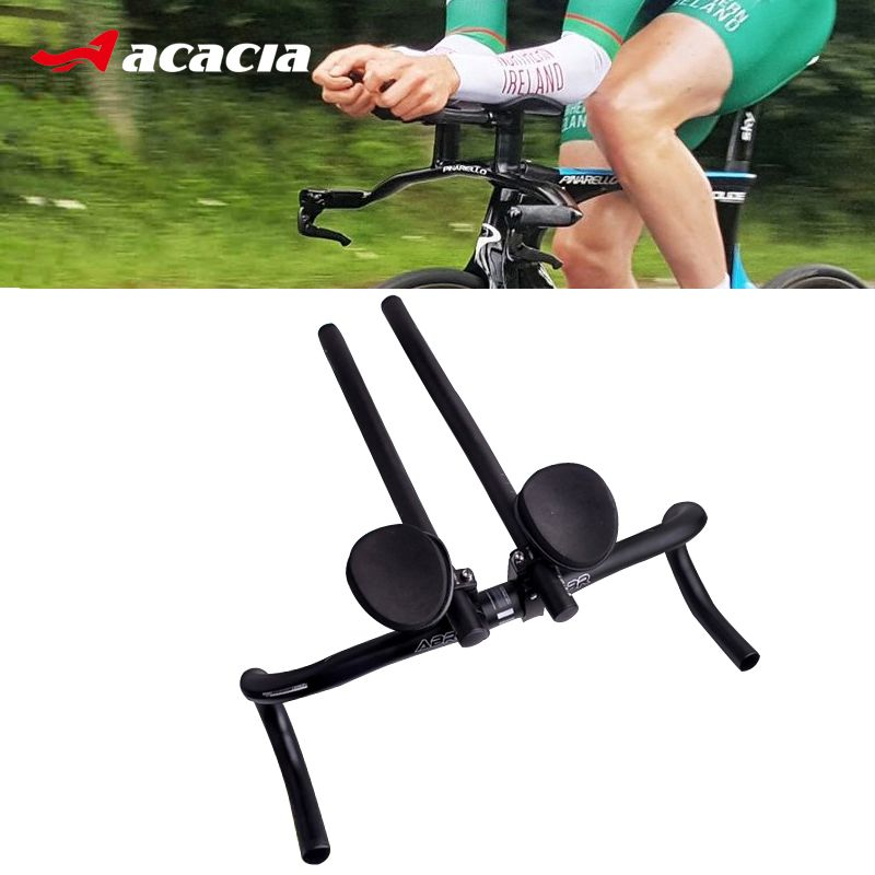 ACACIA TT Handlebar Aero Bars Triathlon Time Trial Cycling Bike Rest Handlebar For Road MTB Bike Separated 2pcs Pipe Rest End