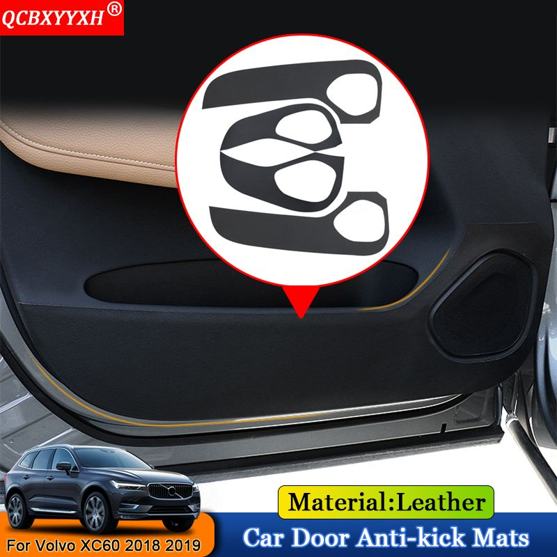 QCBXYYXH Car-Styling 4pcs/set Car Side Edge Anti-kick Door Mats Cover Protection Pad Auto Accessories For Volvo XC60 2018 2019