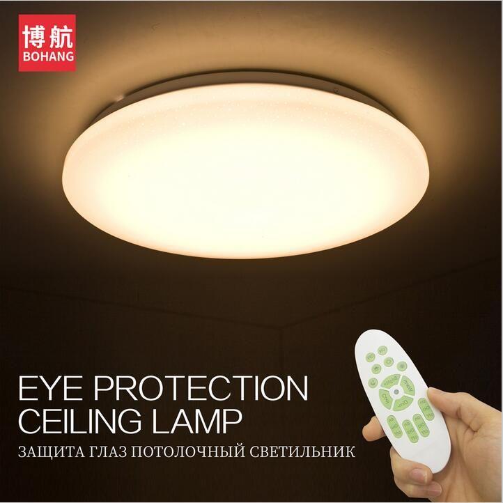 LED Потолочные светильники Цвет изменить потолочный светильник 25 Вт 400 мм Умные ПДУ 60 Вт 550 мм затемнения Спальня Гостиная глаз охраняемых