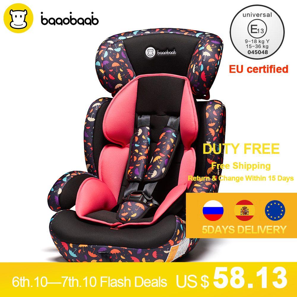 BAAOBAAB Einstellbare Baby Auto Sitz Freies Verschiffen Rückkehr & Ändern Innerhalb 15 Tage Kind Sicherheit Booster Sitz für 9 Monate -12 jahre