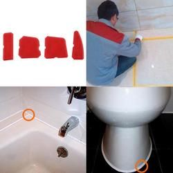 4pcs Caulking Tool Kit Joint Sealant Silicone Grouts Remover Scraper Floor Cleaner Tile Cleaner Hand Tools for Bathroom Kitchen