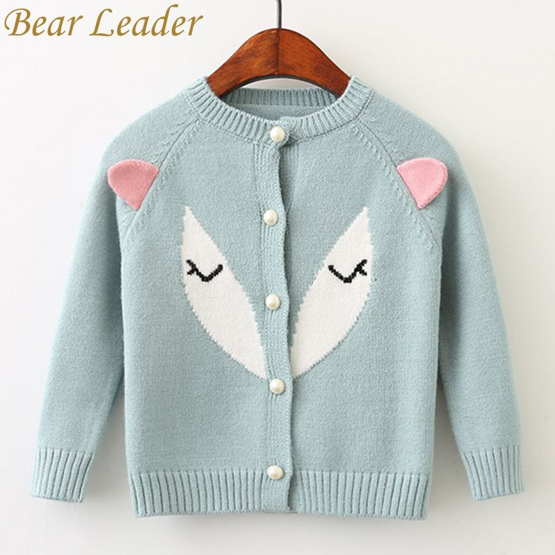 Bear Leader Girls Sweater 2018 New Spring Winter Pullover Long Sleeve Cotton Fox 3D Ears Sweater For Children Knitted Sweater