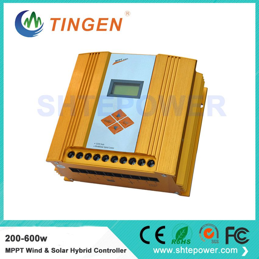 Reasonable price 12v 24v solar wind hybrid controller 600w with mppt function