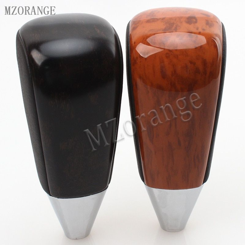 MZORANGE 1 Piece Leather Automatic Transmission Gear Shift Knob For Toyota LC200 Land Cruiser 2008-2015 Black / Brown