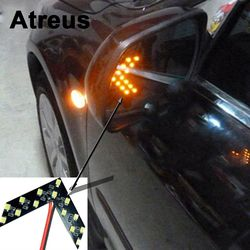 2 pcs Voiture de coiffure Tournant Du Signal Indicateur Lumière Pour Bmw e46 e39 e60 e90 Ford focus 2 3 h7 led Volkswagen Passat b5 b6 golf 4 vw