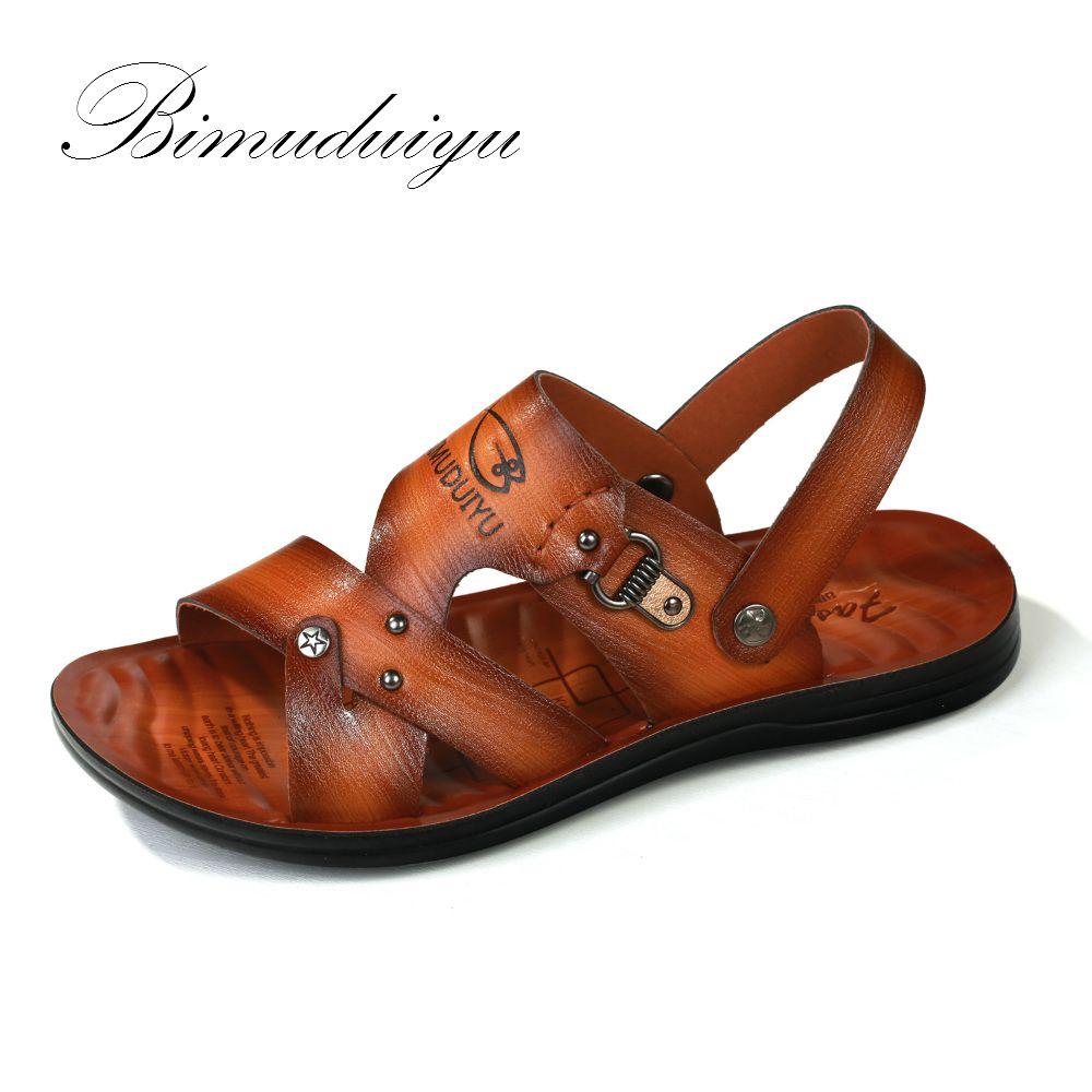 BIMUDUIYU Sommer Männer Casual Sandalen Dual-use-Schuhe Breathable/Weichen Männlichen Strand Schuhe Super rutschfeste Flip-Flops