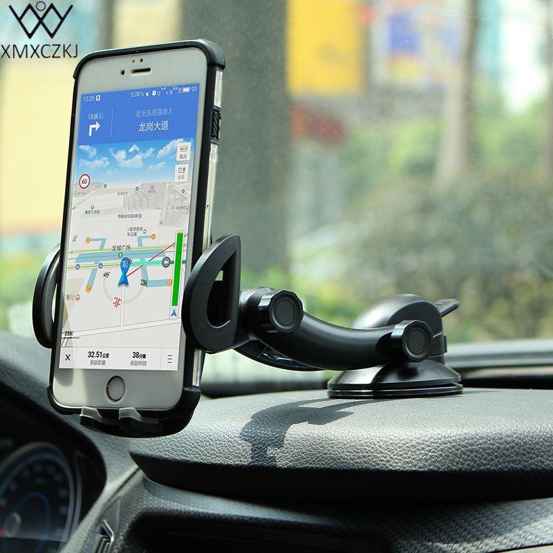 XMXCZKJ nouveaux arrivants support de téléphone portable pour voiture universel tableau de bord pare-brise bureau ventouse support de montage pour iPhone Samsung