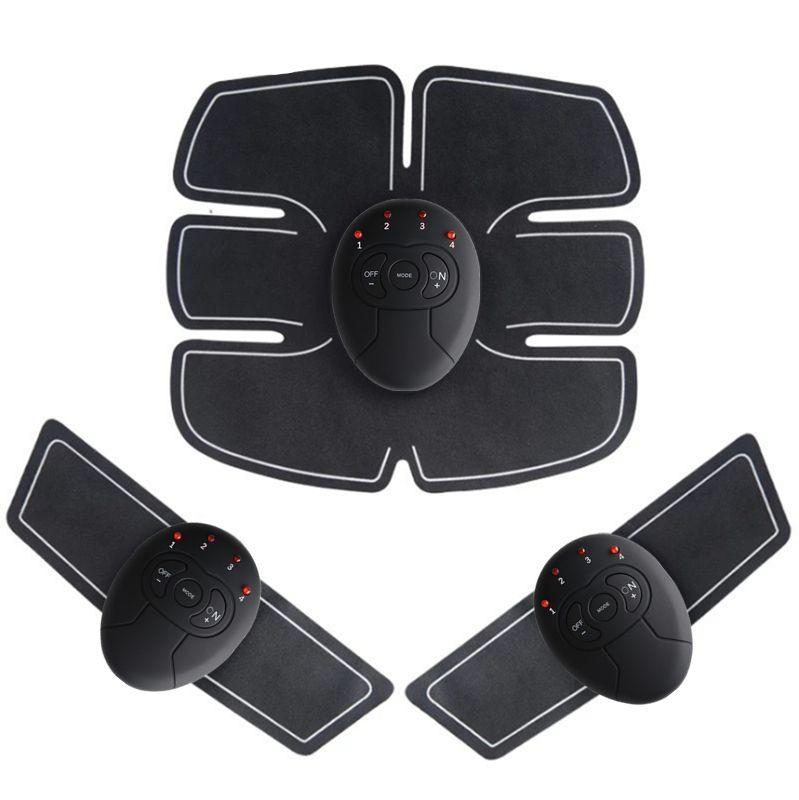Livraison directe Abdominale machine électrique stimulateur musculaire ABS Formateur ems remise en forme perte de Poids Corps minceur De Massage sans boîte