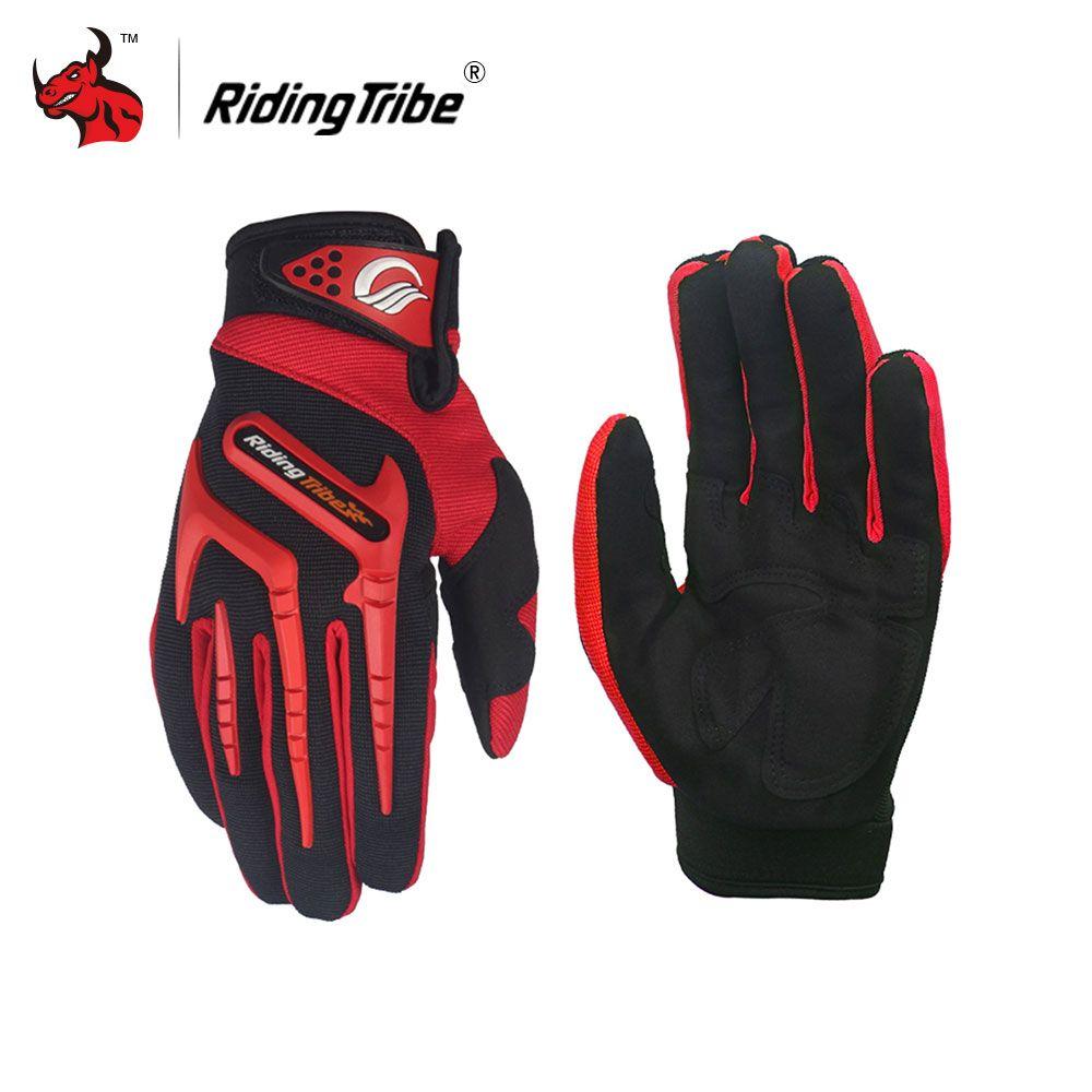 Riding Tribe Motorcycle Gloves Full Finger Guantes Moto Motocross Gloves Luvas Da Motocicleta Moto Gloves Red Green Blue