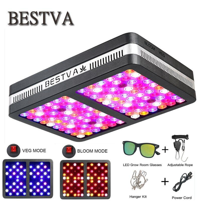 BestVA LED grow light Elite-1200W Full Spectrum for indoor plants replaced 800W HPS Light Veg Bloom two mode Greenhouse grow led