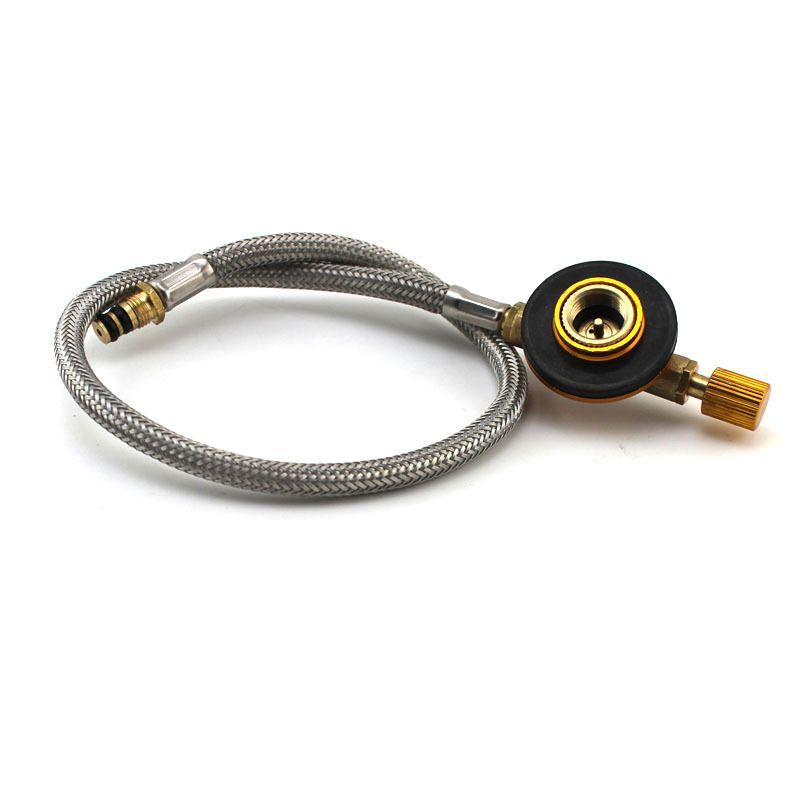 Cuisinière à gaz tuyau de carburant tube pour brûleurs extérieurs poêles raccord tuyau bouteille lien tuyau de poêle avec vannes de régulation de puissance incendie