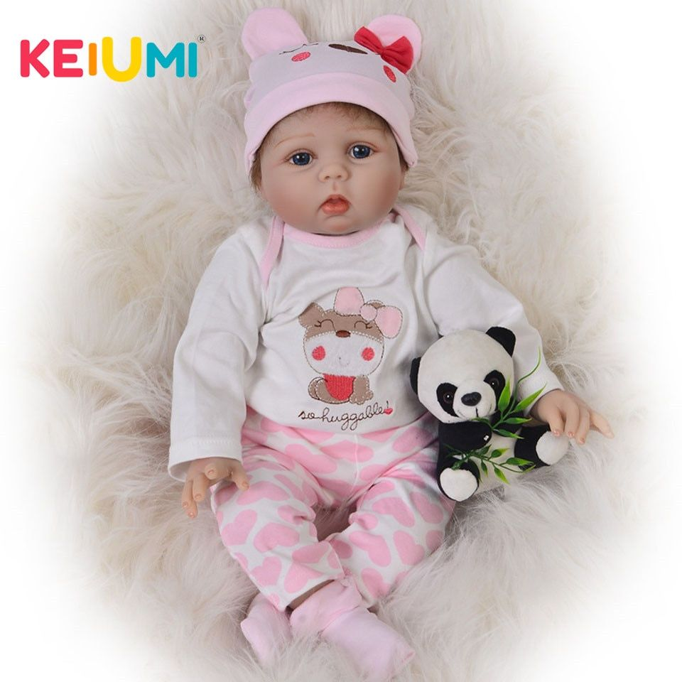 Lifelike 22'' Princess Reborn Babies 55 cm Realistic Silicone Reborn Baby Dolls Soft PP Cotton Body For Kids Birthday Xmas Gift