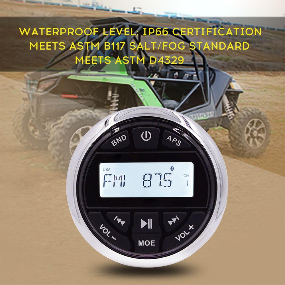HASDA Marine Bluetooth Radio Receiver Waterproof Boat Stereo Head Unit MP3/USB/FM/AM