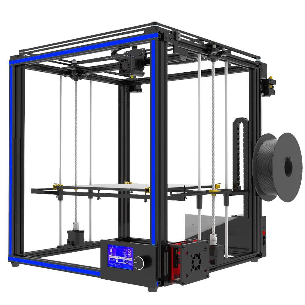Neueste große druck größe Tronxy X5S 3D Drucker Big Print Bereich CoreXY System aluminium struktur 12864P LCD 8G SD karte