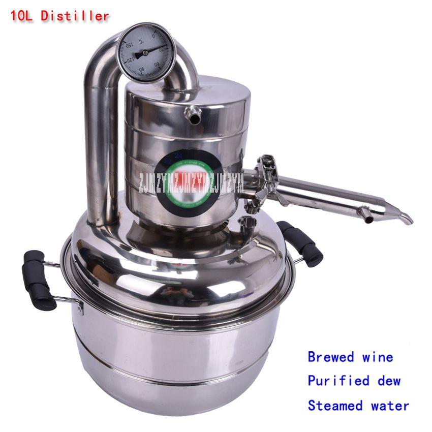 10L Distiller Stainless Steel Bar Household equipment wine limbeck distilled water baijiu vodka maker brew alcohol whisky