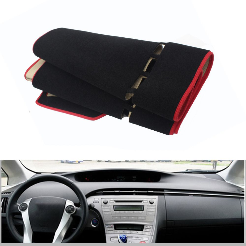 For Toyota Prius 2012 Car Dashboard Avoid Light Pad Instrument Platform Cover Mat Silicone Non-skid Back Surface Car Styling